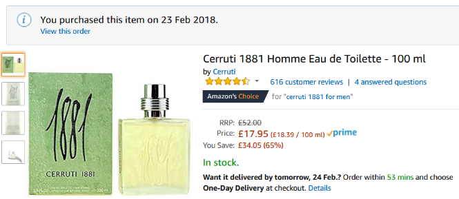Perfume com preço baixo